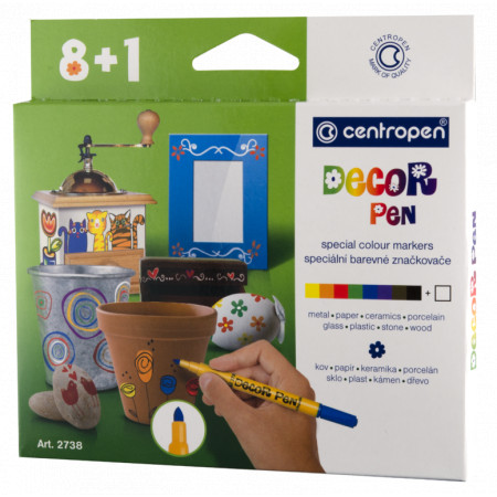 Centropen Decor pen 2738 sada 9 ks