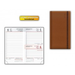 Diář MFP 2019 D802 PU Brown - dark brown 90x170 mm