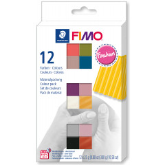 Fimo soft sada 12 barev 25 g FASHION
