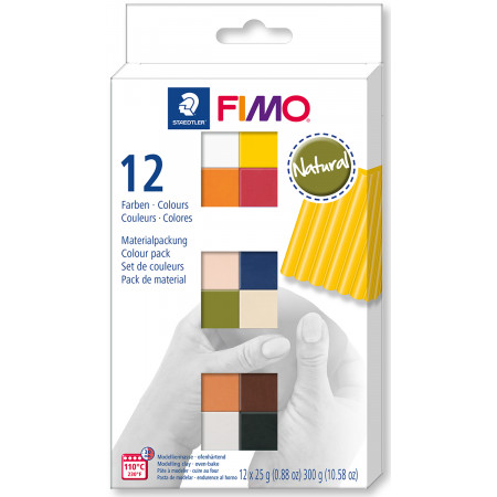 Fimo soft sada 12 barev 25 g NATURAL