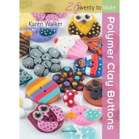 Kniha Karen Walker Polymer Clay Buttons