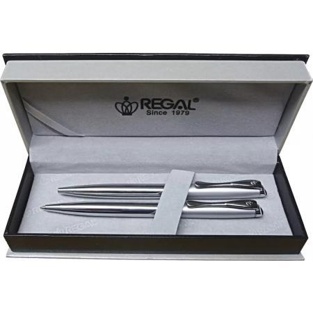 Kuličkové pero + mikrotužka Regal Arachne - stříbrná