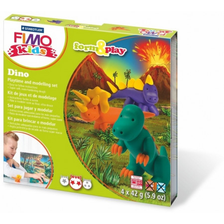 Sada Fimo Kids Form & Play Dinosauři
