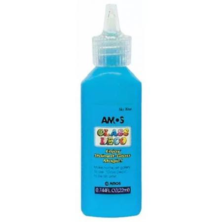 Slupovací barva na sklo Amos 1502 22 ml, modrá světlá